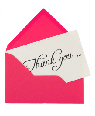 envelope and thank you note